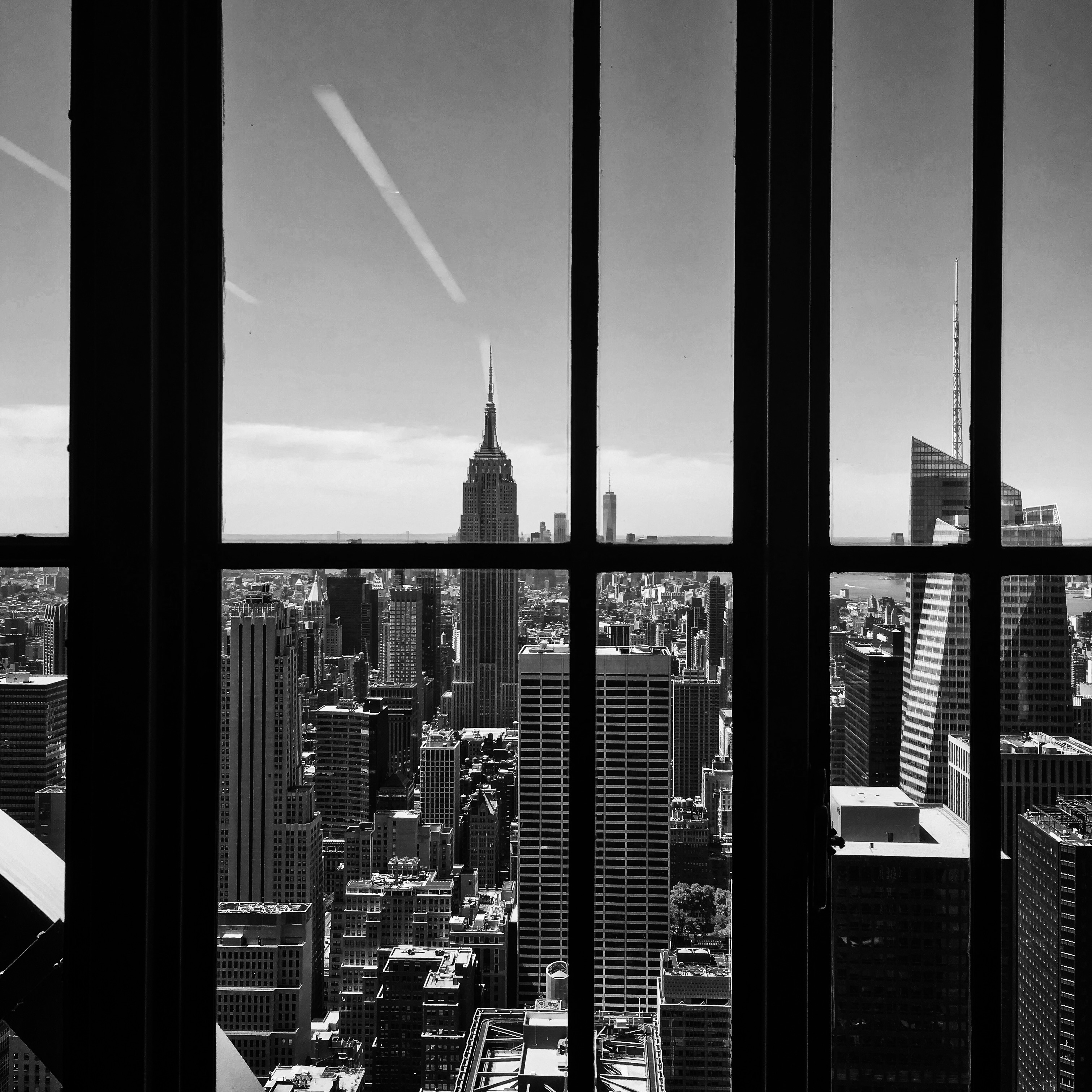 View of the Top of the Rock in New York City, United States.