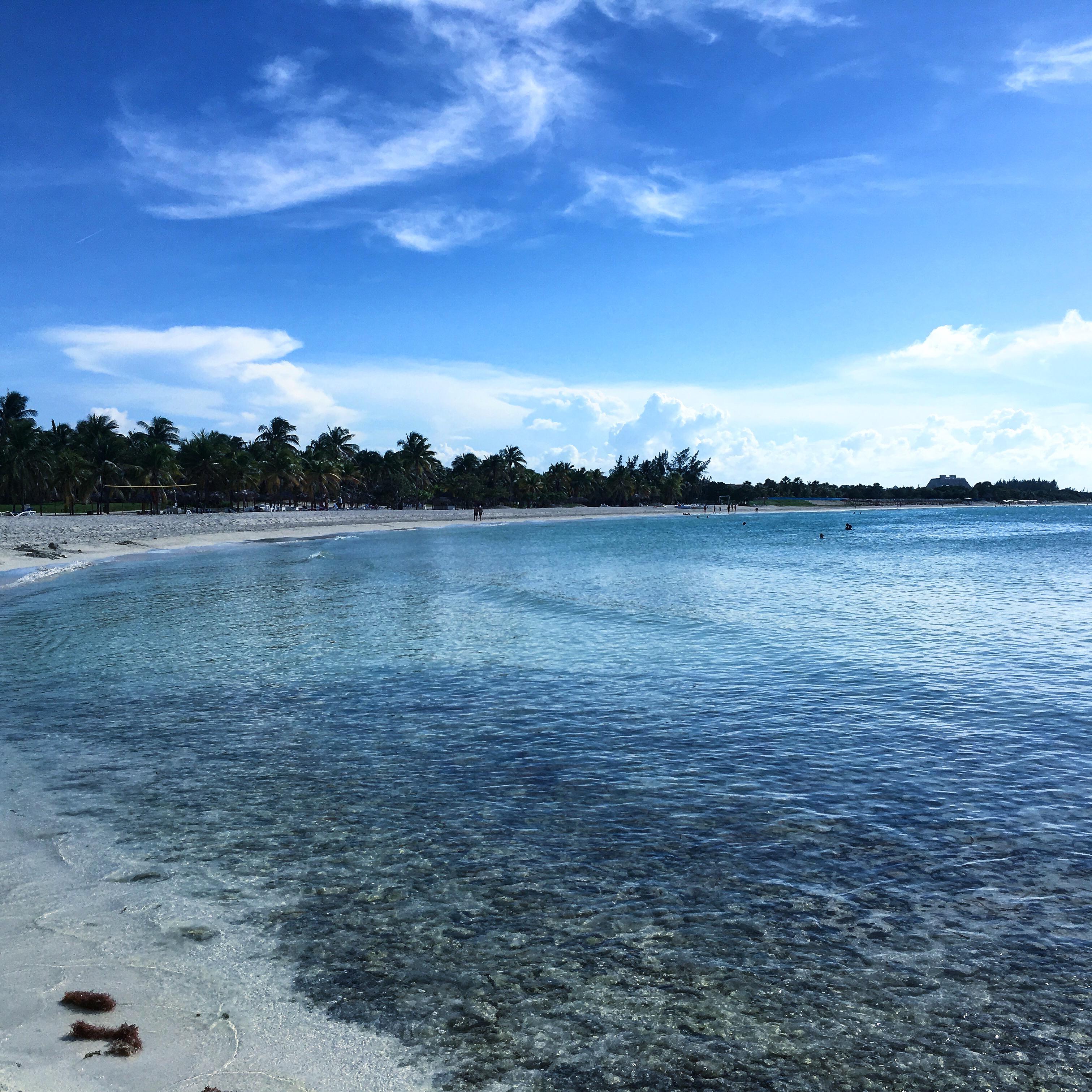 Tropical beach in Varadero, Cuba.
